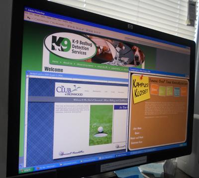 Web Design Monitor Full of Designs