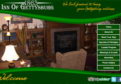 Screenshot of the 1863InnOfGettysburg.com Website