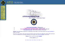 Screenshot of the ATO Gettysburg website