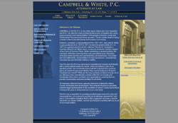 Screenshot of the Campbell And White Website