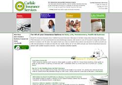 Screenshot of the Carlisle Insurance Services Web Design