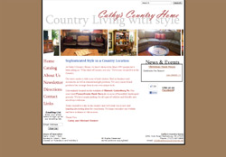 Screenshot of the Cathy's Country Home Website