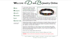 Screnshot for D and B Jewelry Online Website