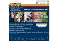 Screenshot of the website for EnjoyGettysburg.com