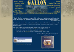 Screenshot for the website of Dale Gallon
