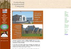 Screenshot for the website Gettysburg Construction.com