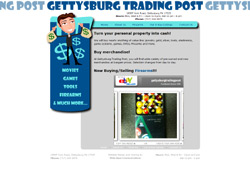 Website for local business The Gettysburg Trading Post in PA