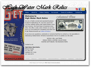 Image of Web Design for High Water Mark Relics