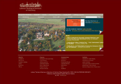 Screenshot of the website for The Lutheran Theological Seminary at Gettysburg, PA