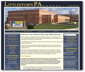 Web Design for LittlestownBoro.org by Wide Open Communications