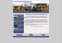Screenshot from MilitaryArtPrints.com