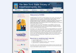 Website for The New York State Society of Anesthesiologists, Inc.