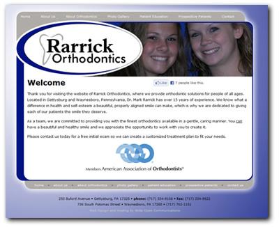 Website Design for Rarrick Orthodontics.com