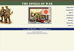 The website for Spoils Of War