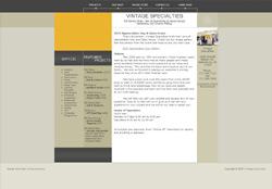 Web Design and Hosting for the website VintageSpecialties.com