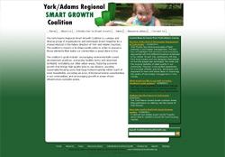 Screenshot of the website for York Adams Smart Growth