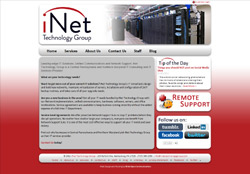 Website for iNet Technology Group in Gettysburg, PA