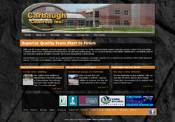Screenshot of Carbaugh Concrete Website