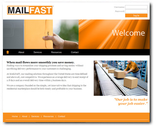 MAILFAST Delivery Website
