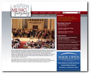 Music, Gettysburg! Wide Open Blog Image