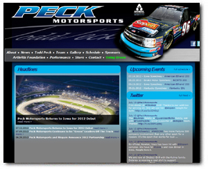 Wide Open Develops Peck Motorsports.com