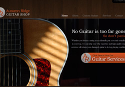 Screenshot for AutumnRidgeGuitar.com