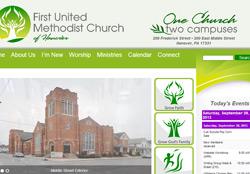 Screenshot of FirstUMCHanover.com