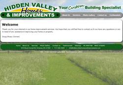 Screenshot of HiddenValleyHomesAndImprovements.com